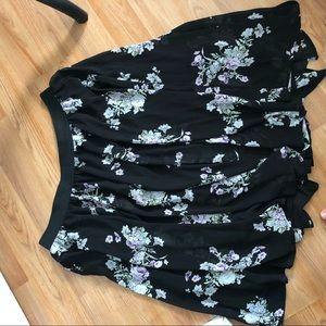 torrid Skirts - Torrid Black Floral Midi Skirt